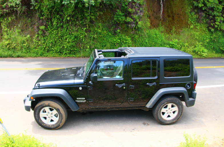 Our black jeep, Maui